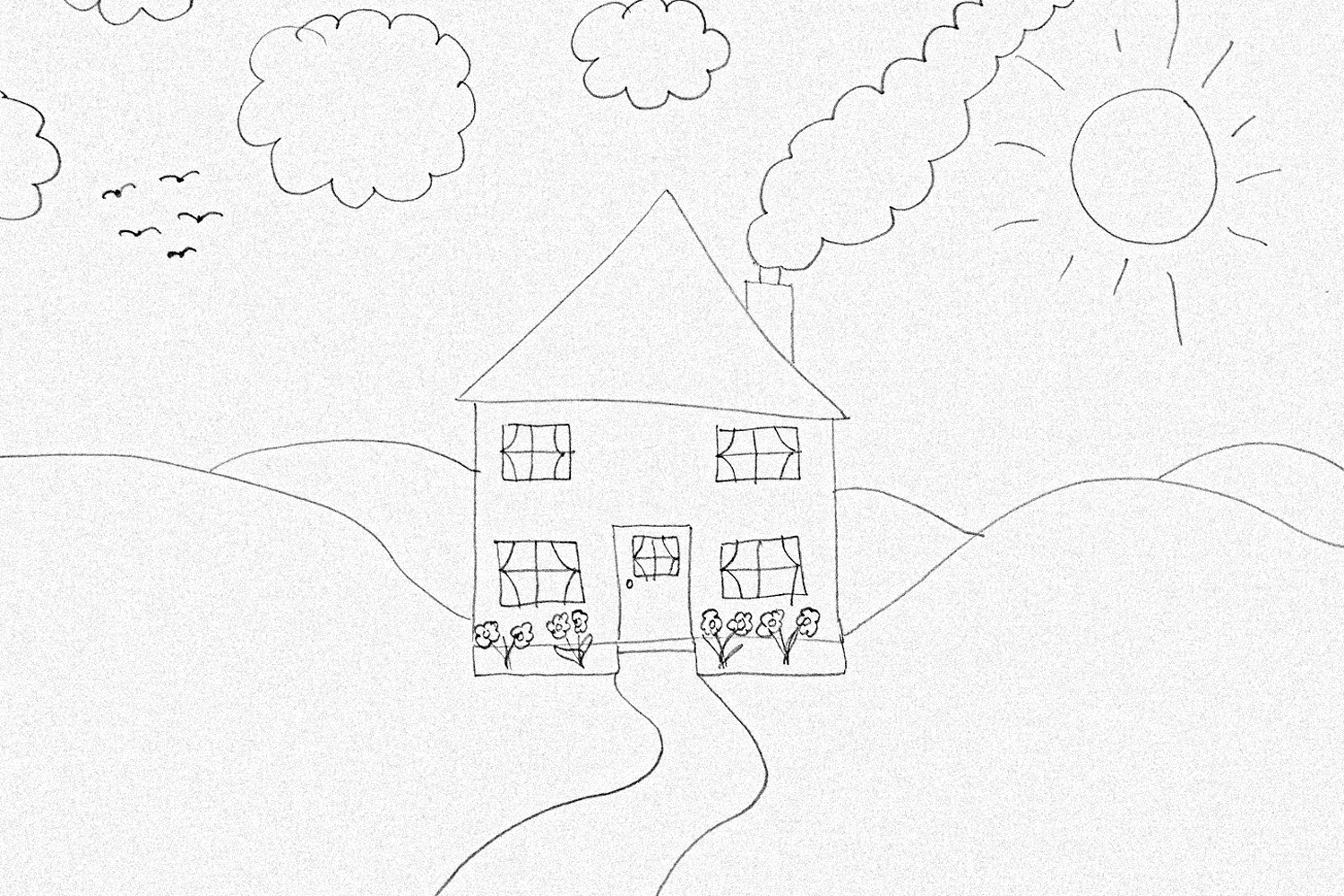 Childs Drawing of a house