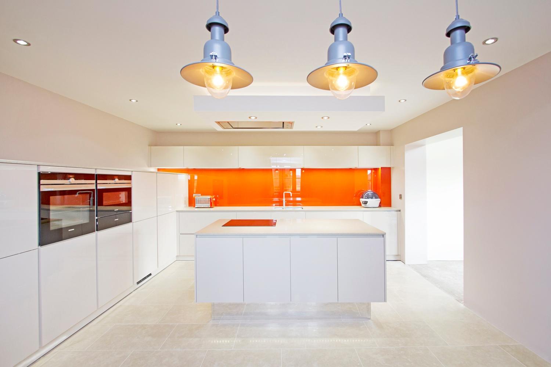 White Contemporary Kitchen Croft Architecture
