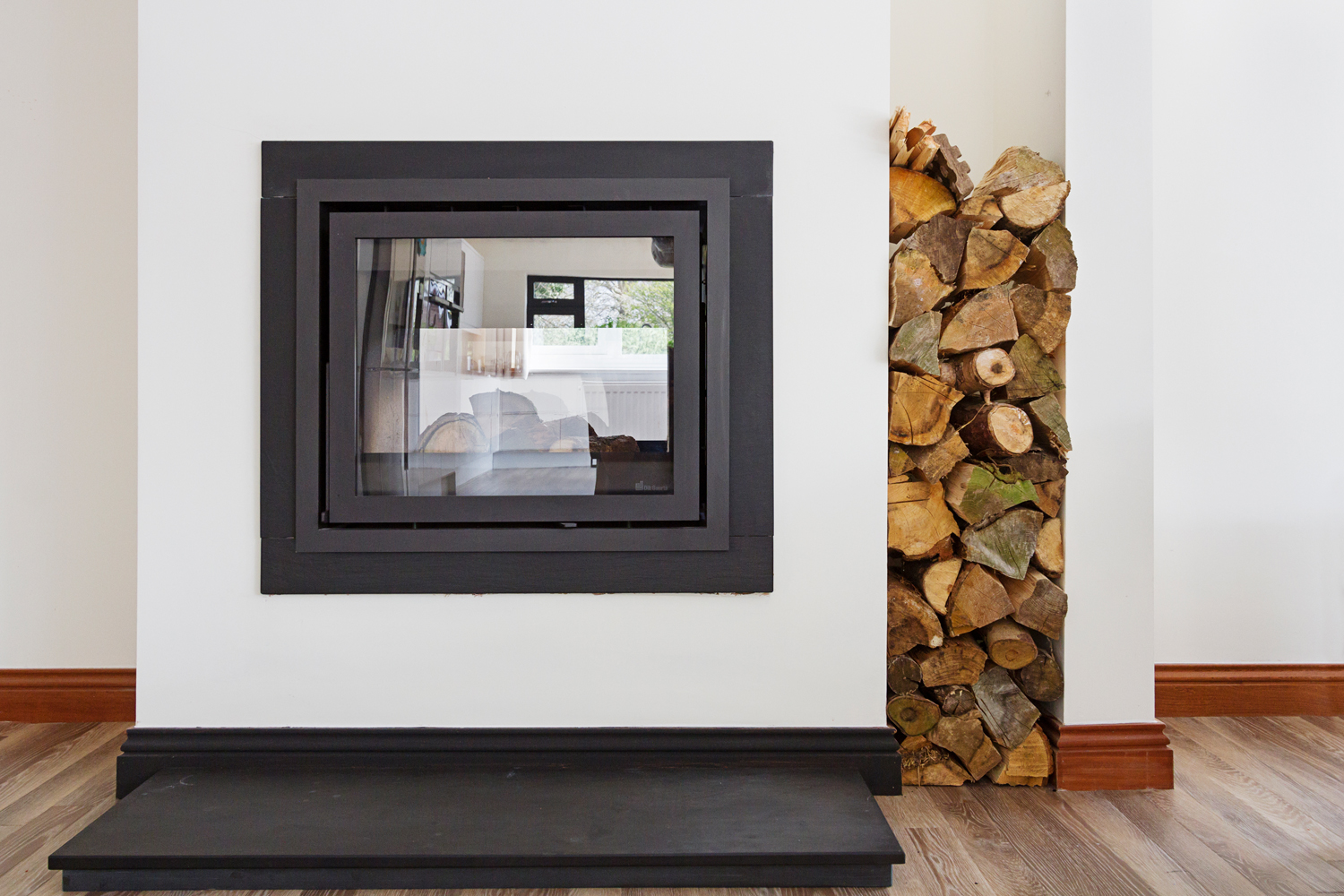 Croft Architecture - After - Two Way Log Burner