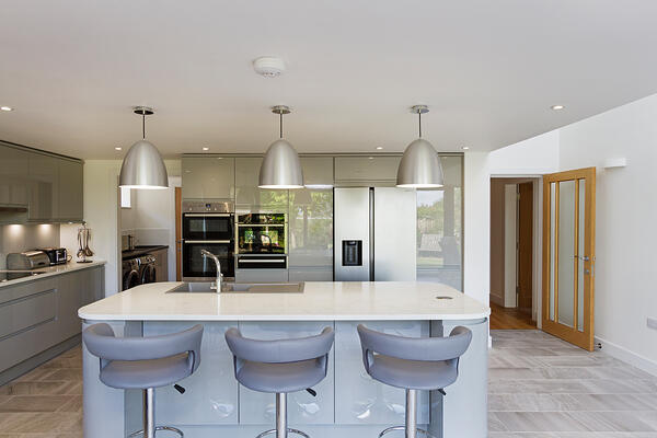 Croft Architecture Contemporary Grey Kitchen