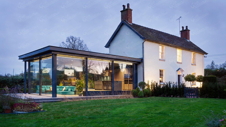 Croft Architecture Grade II Listed Cottage Minimal Glazed Extension