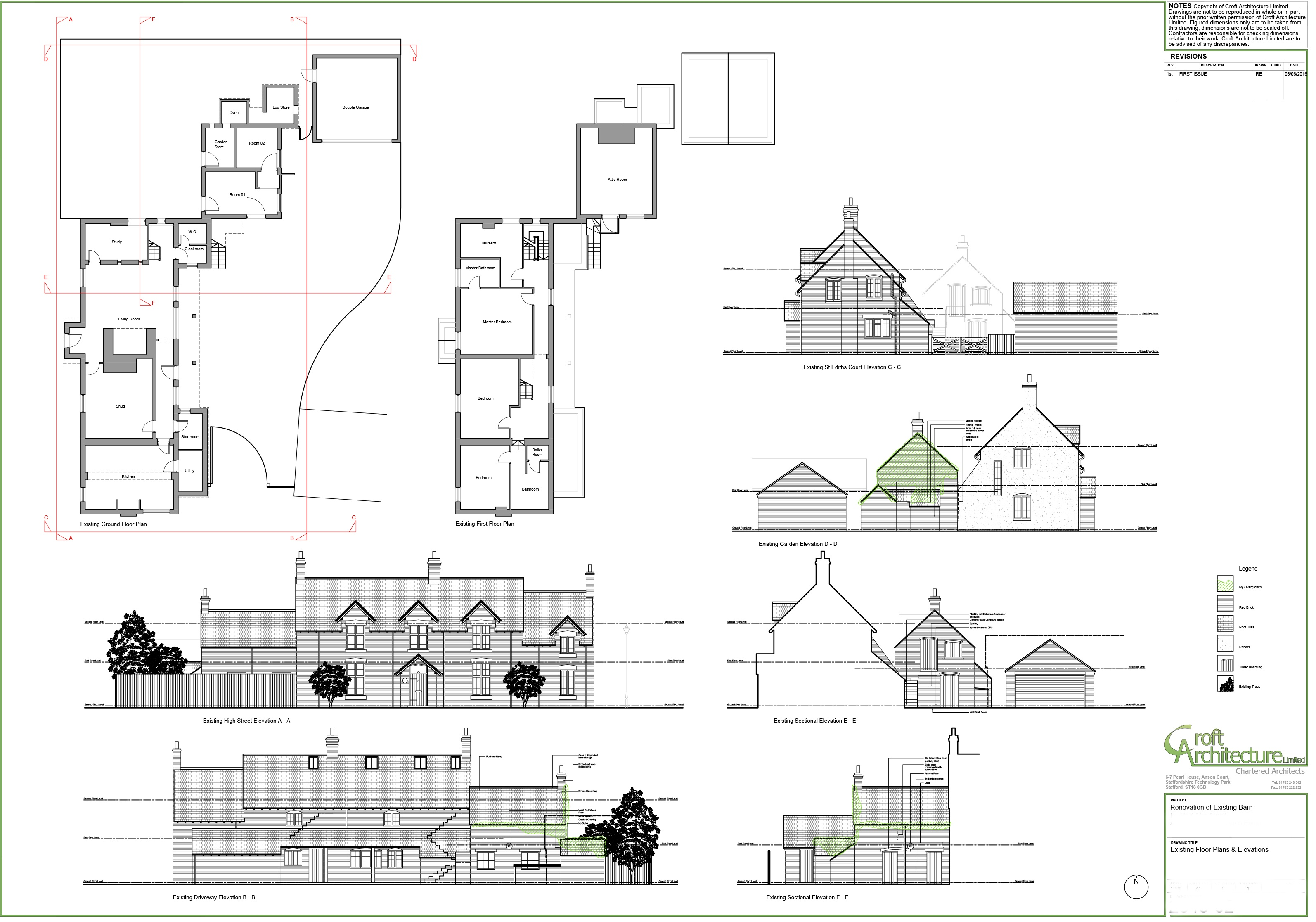 Croft Architecture Barn Conversion Existing Plans