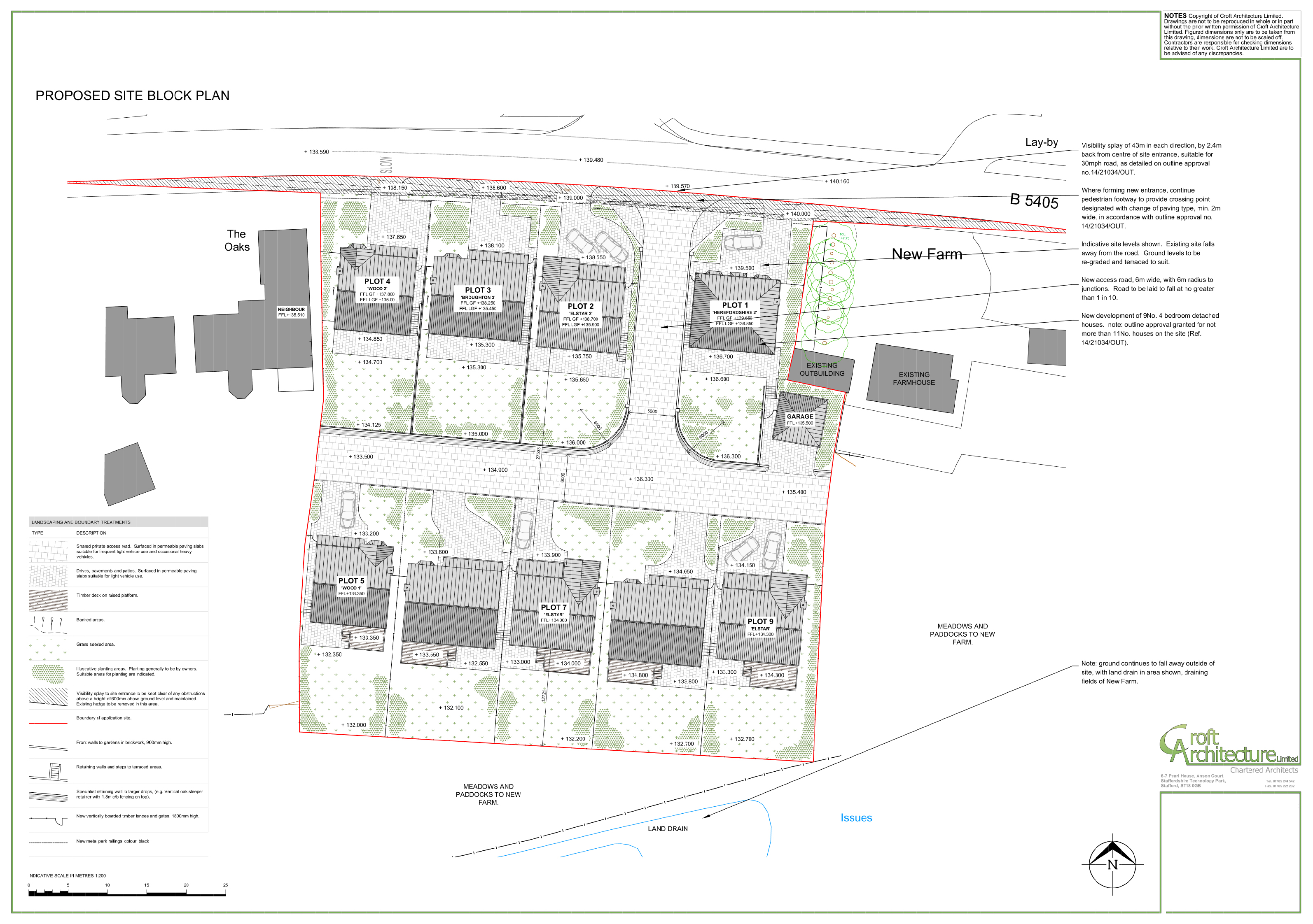 Croft Architecture Proposed Luxury Housing in Staffordshire