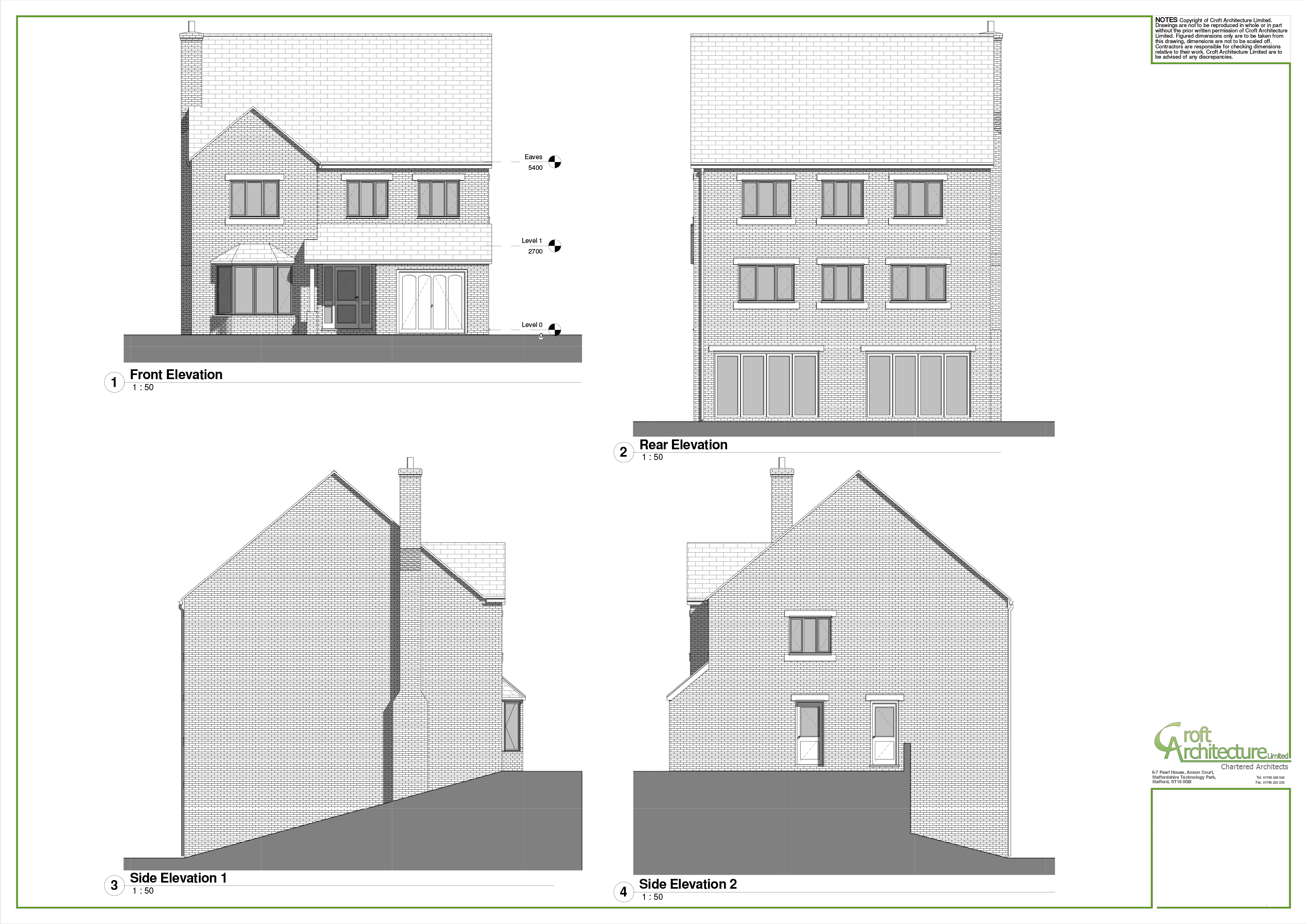 Croft Architecture Proposed Luxury Housing House Type in Staffordshire