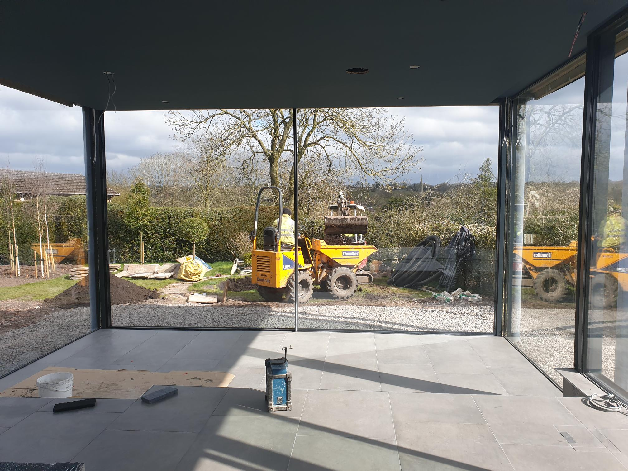 Croft Architecture Construction of split level kitchen conservation area