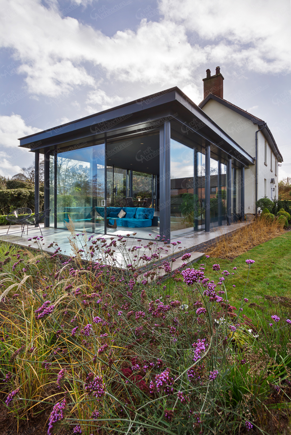 Croft Architecture Minimal Glazed House Extension