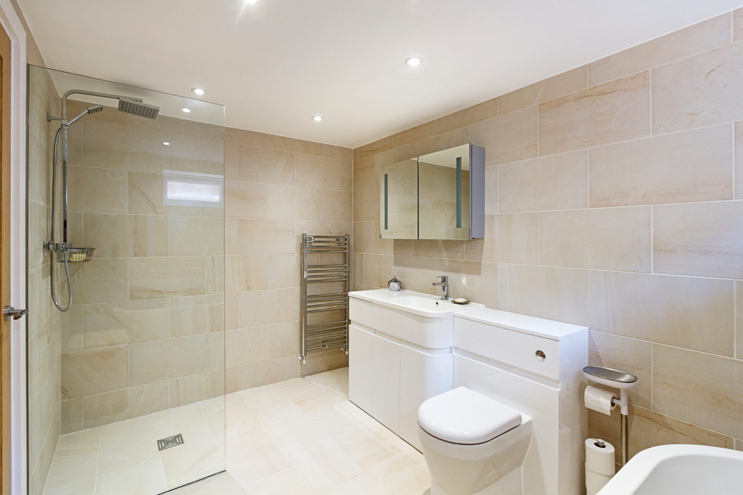 Croft Architecture Sustainable Self Build Master Bedroom Ensuite