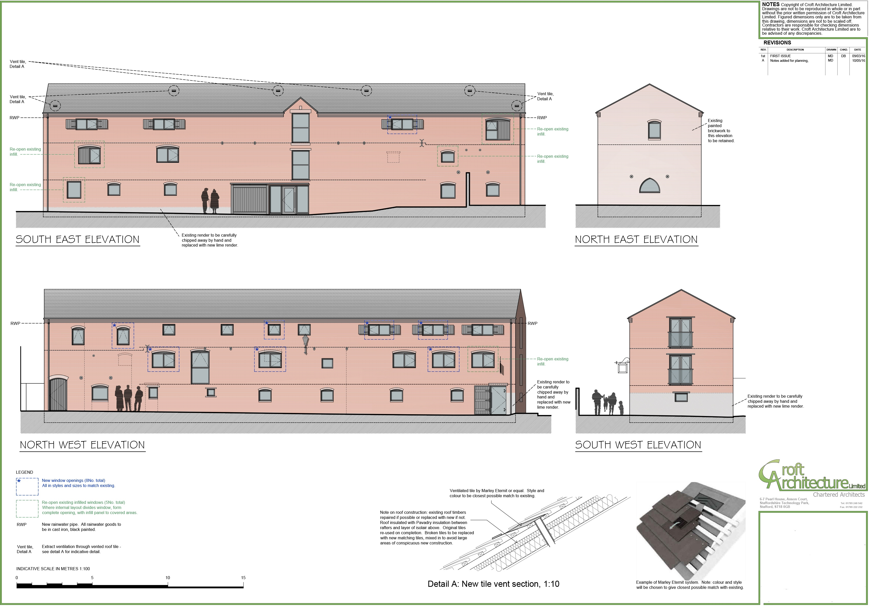 The Maltings Proposed Elevations Croft Architecture